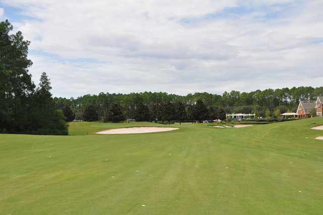 A view from the 16th fairway at The Golf Club from South Hampton