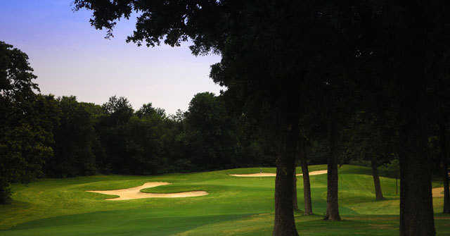 View of the fourth hole of the West course at Bear Creek Golf Club