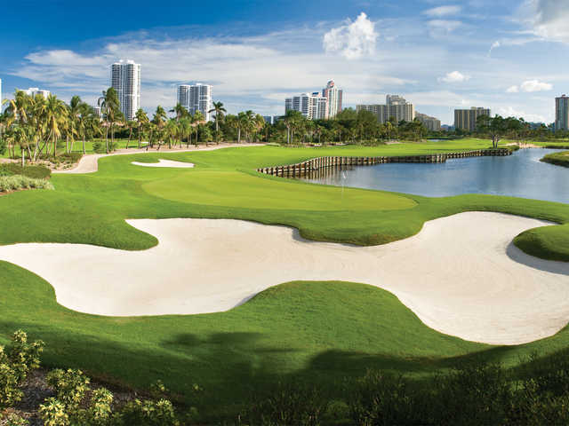 A view of a hole at Turnberry Isle Country Club