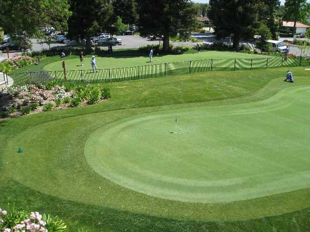A view of the practice area at Pruneridge Golf Course