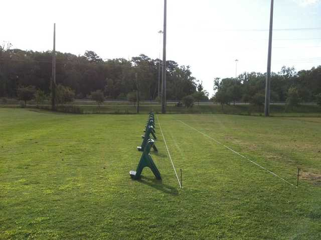 A view of the driving range tees at Bacon Park Golf Course
