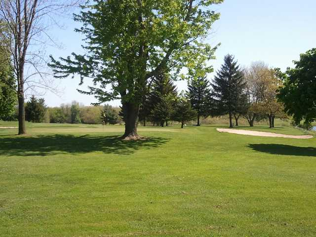 A view of the 9th green at Batavia Country Club