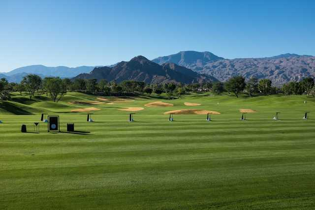 A view of the driving range at Rancho La Quinta
