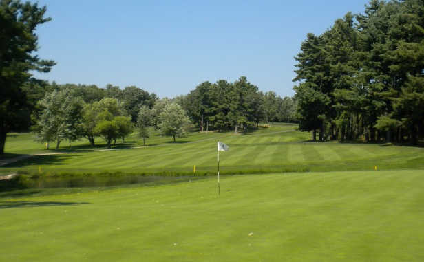 A view of hole #11 at Burlington Country Club
