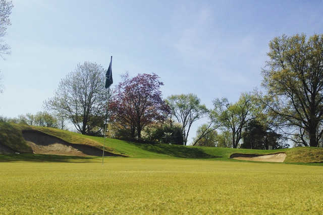 A view of a green at Columbus Country Club