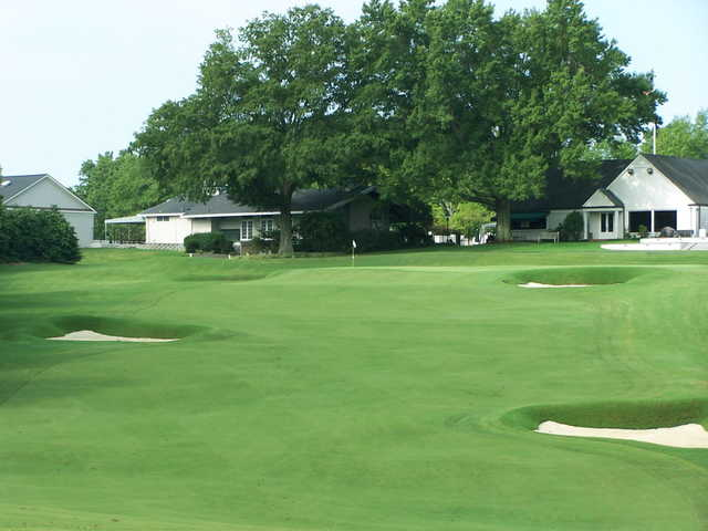 A view of a green at Country Club of Spartanburg