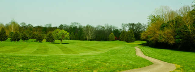 View of a fairway at Eagle Pines Golf Club
