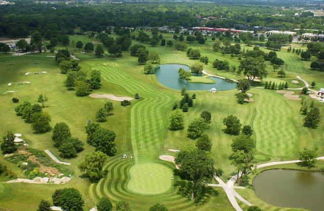 Aerial view from Inwood Golf Course