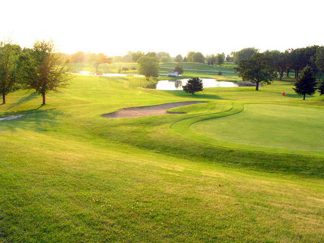 Looking back from the finishing hole at Horicon Hills Golf Club