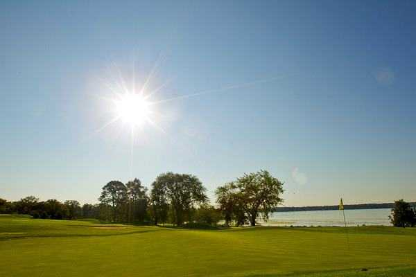 Sunny day from Majestic Oaks at Lake Lawn Resort