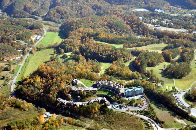 Aerial view of the Gatlinburg Golf Course