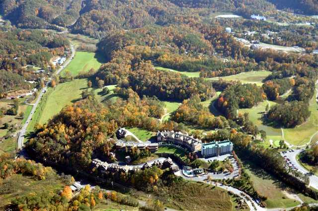 Aerial view of the Gatlinburg Golf Course