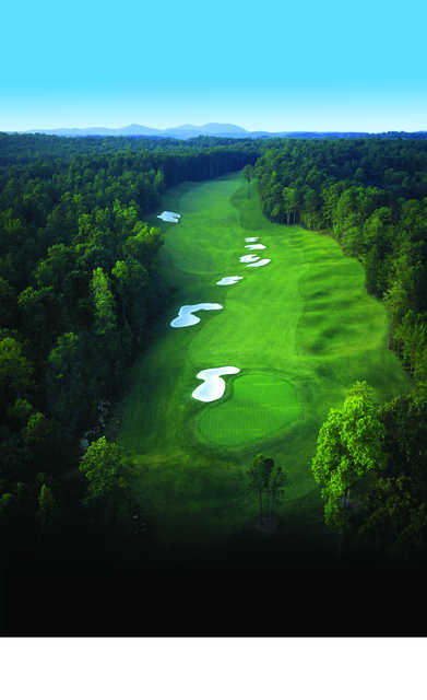 Aerial view of the 17th hole at Governors Towne Club.