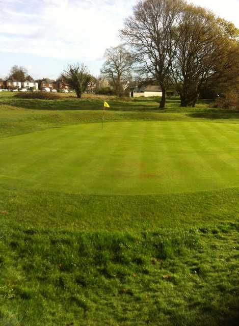 View of the 3rd green at Thames Ditton & Esher Golf Club