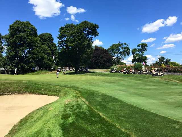 A view of a green at Metacomet Country Club