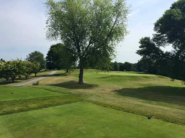 A view from a tee at Metacomet Country Club