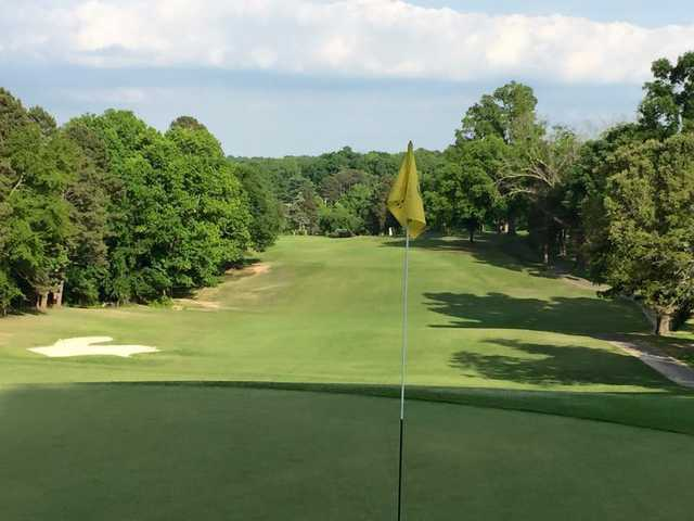 A view from the 4th green at Monroe Country Club