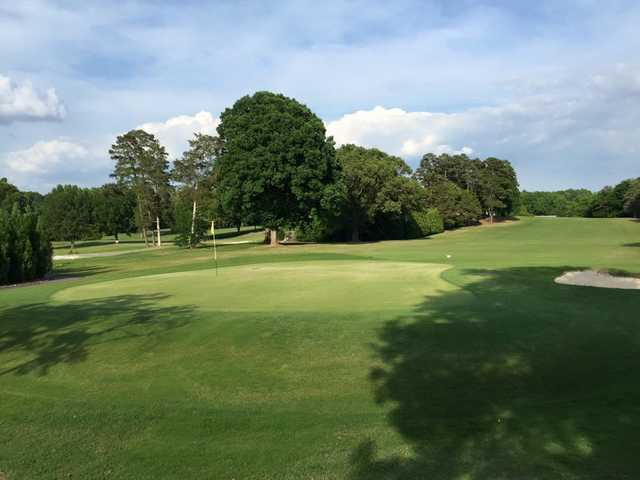 A view of the 1st hole at Monroe Country Club