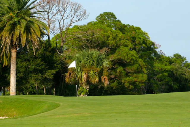 A view of a hole at New Smyrna Beach Golf Course