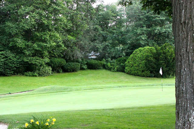 A view of a hole at Wyckoff Country Club