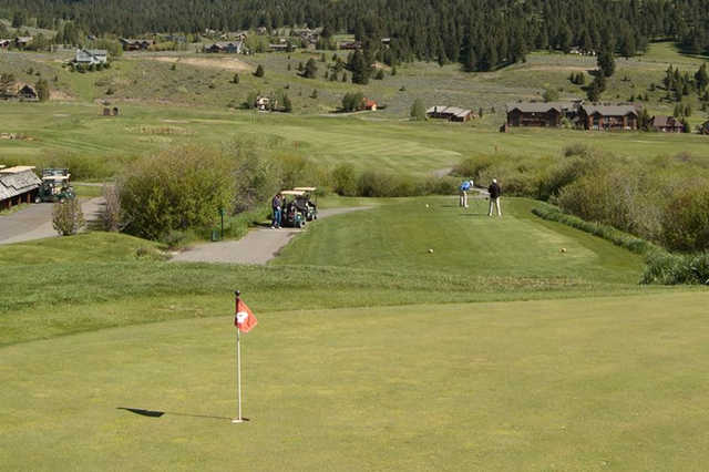 A view of hole #4 at Big Sky Golf Club