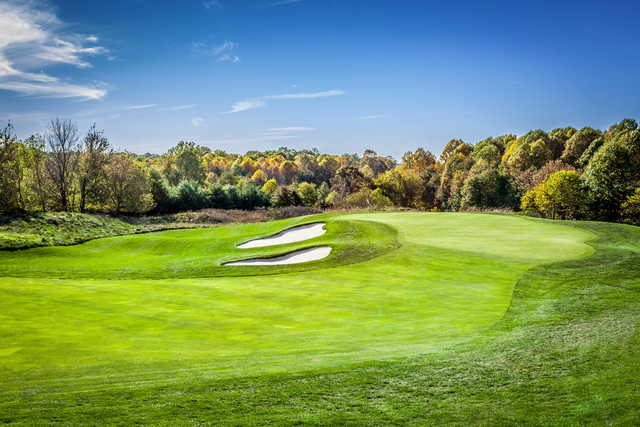 View of the 17th green at Hampshire Greens Golf Course