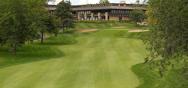 View of the 18th hole at Salina Country Club
