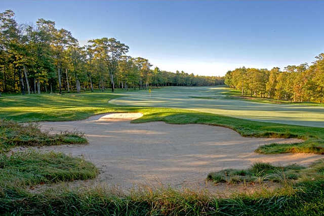 A view of green #13 at Breezy Point Resort - Deacon's Lodge