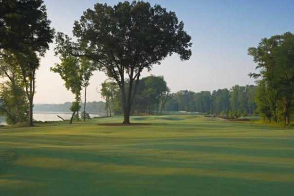 A view from fairway #4 set along the banks of Savannah River from Palmer Island Nine at Champions Retreat Golf Club