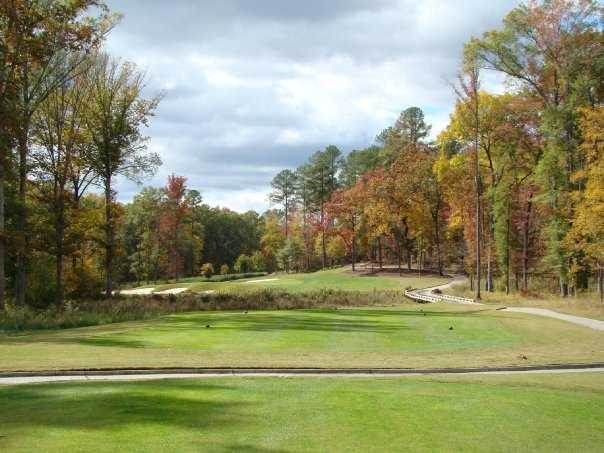 A view from tee #4 at Player Creek Nine from Champions Retreat Golf Club