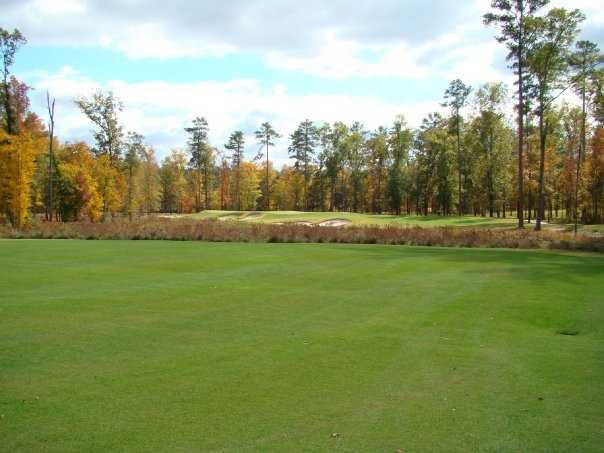 A view of hole #1 at Player Creek Nine from Champions Retreat Golf Club