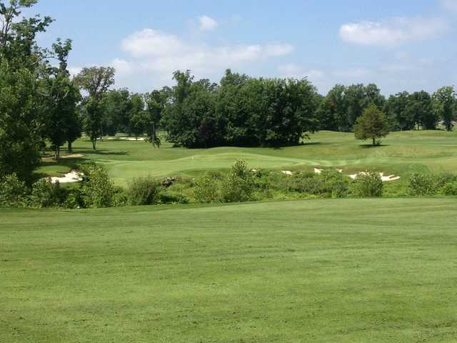 A view of the 16th hole at Coyote Preserve Golf Club