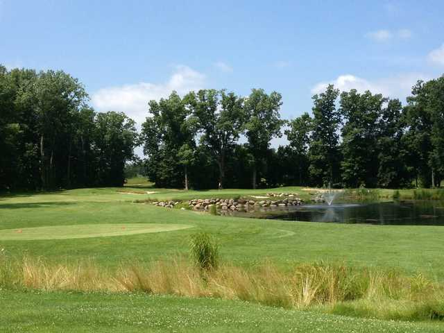 A view of hole #17 at Coyote Preserve Golf Club