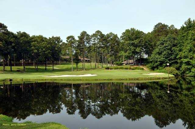 View of a green at DeSoto Golf Course