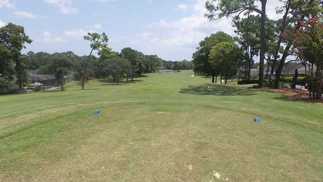 A view from a tee at Hidden Hills Golf Course
