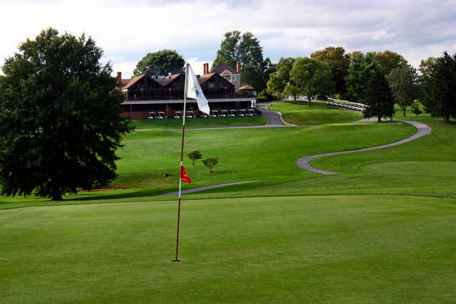 View from the Red 1st green at Shenandoah Valley Golf Club