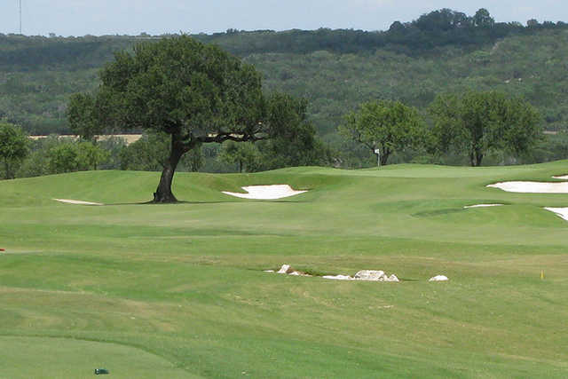 A view from a tee at Lakecliff Country Club