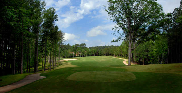 A view from a tee at Lonnie Poole Golf Course.