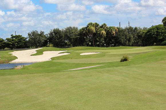 A view of hole #2 at Mizner Country Club
