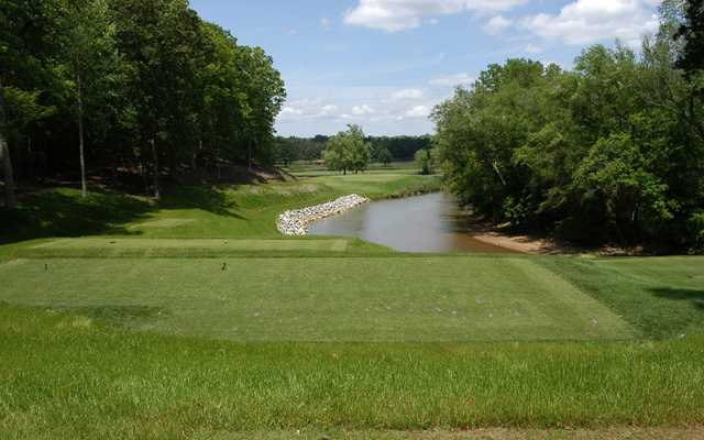 A view from a tee at Musgrove Mill Golf Club
