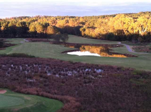 A fall view from Musgrove Mill Golf Club