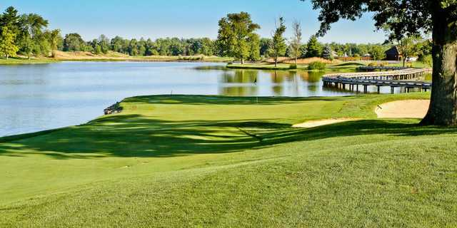 A view of hole #18 at Oasis Golf Club & Conference Center