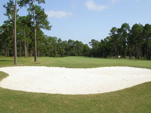 A view over a sand area at Hickory Hill Country Club