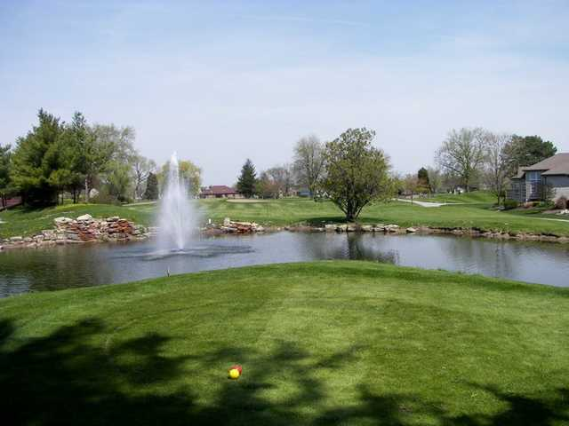 9th tee box from the Center course at Cardinal Creek Golf Course