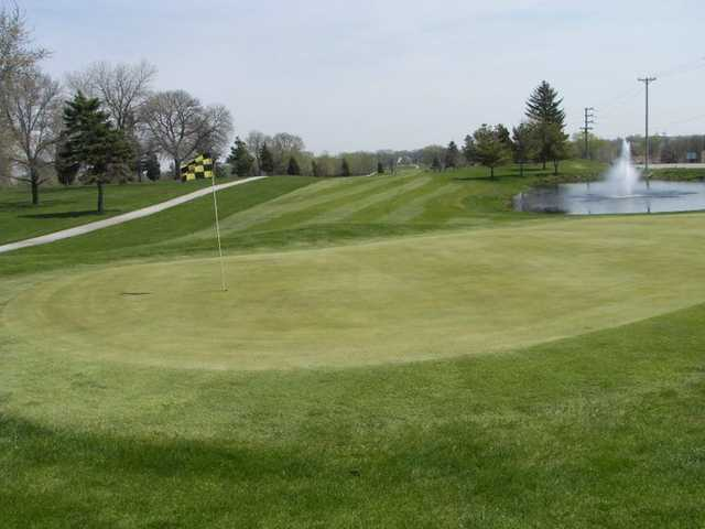 View of the 9th green from the South course at Cardinal Creek Golf Course