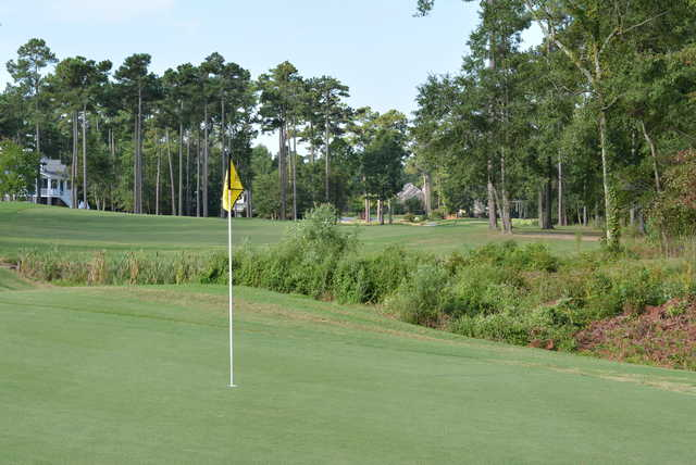 A view of a hole at Rivers Edge Golf Club