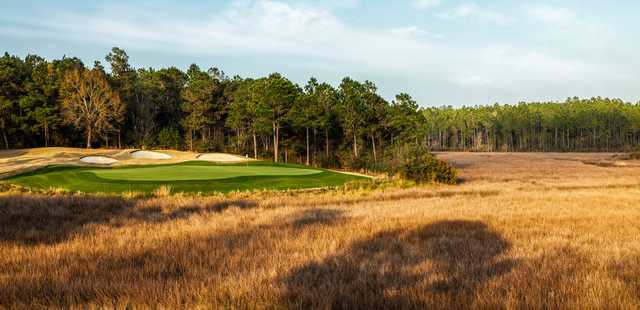 A view of a green from Shell Landing Golf Club.