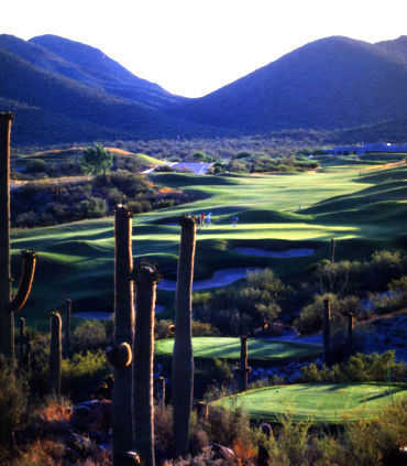 A view of hole #1 and #7 at Coyote from Starr Pass Golf Club