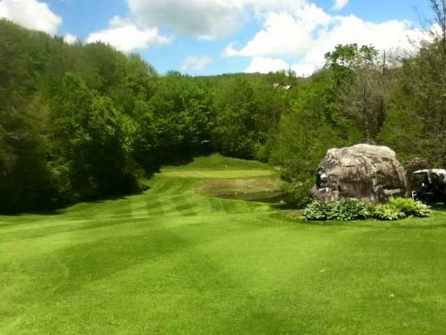 A view of a green at Sugar Mountain Golf Course