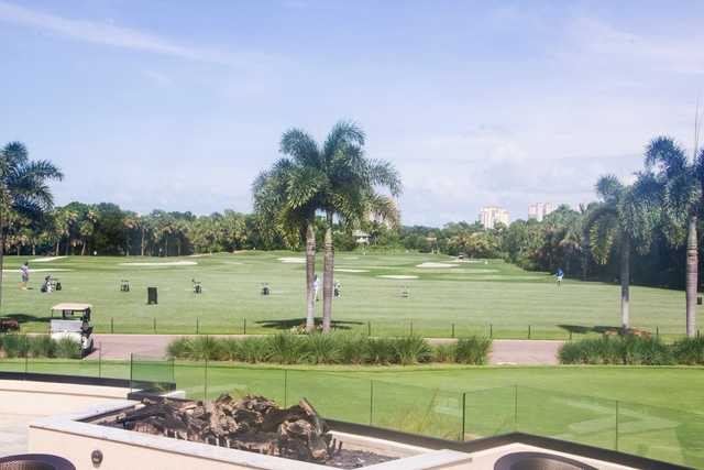 A view of the driving range at Bonita Bay Club